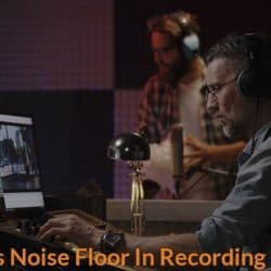 Sound engineer is measuring and identify the level of noise floor in a recording studio.