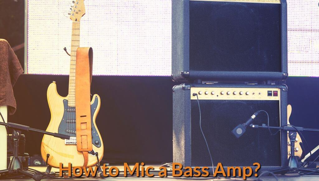 Bass guitar with amp combo setup on the stage.