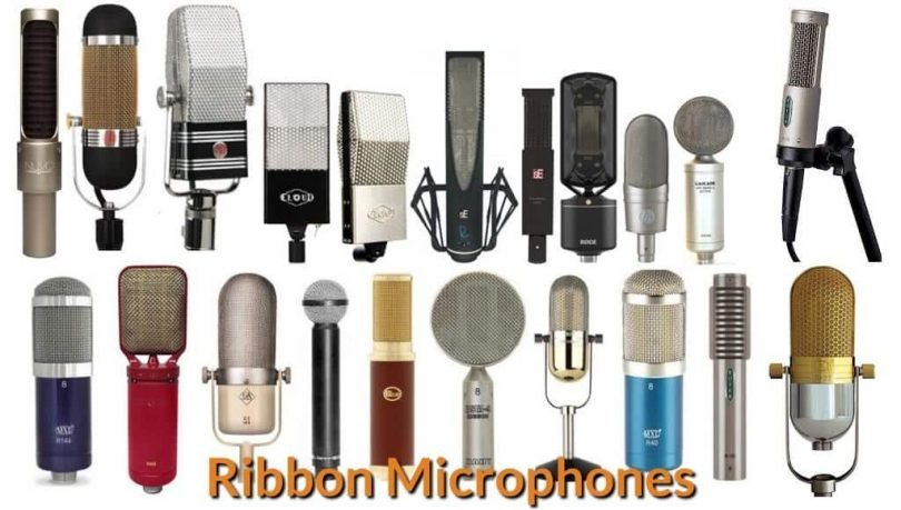 Different types and models of ribbon mic.