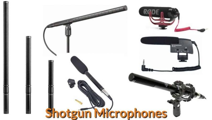Different types and sizes of shotgun mic.