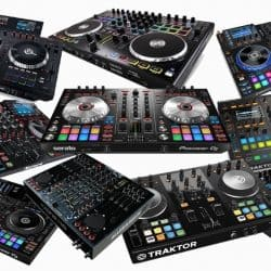 Different types and models of DJ controllers in the market.