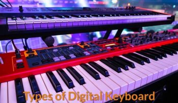 Two types of keyboard piano used on the live stage.