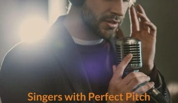 Singer is able to identify the pitch.