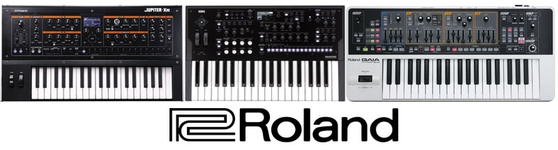 Top 3 synth models of Roland brand.