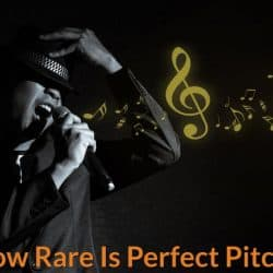 Singer sing in correct pitch and note.