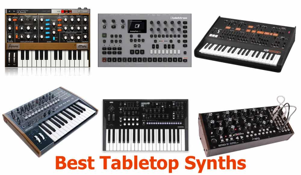 Types of top tabletop and desktop synths in the market.