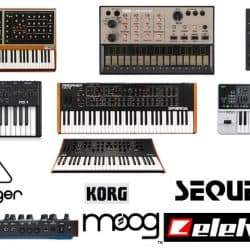 Different types of top synthesizer brands in the market.