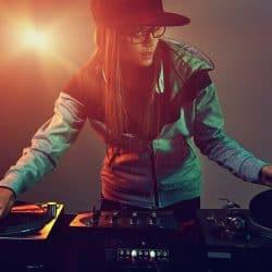 Musician learning DJing techniques.