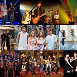 Singing groups and bands you can find in music industry.