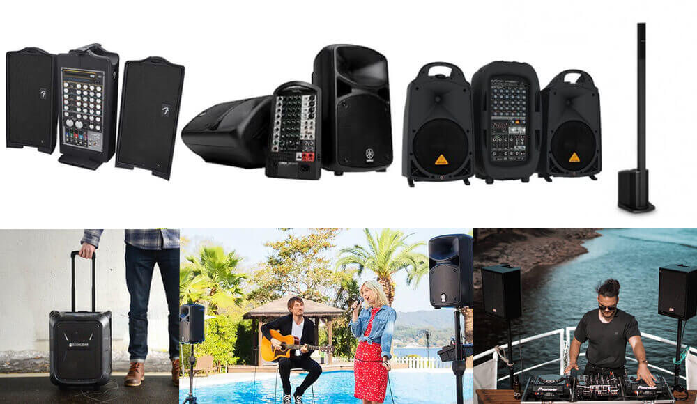 Pa Systems on outdoor gig events