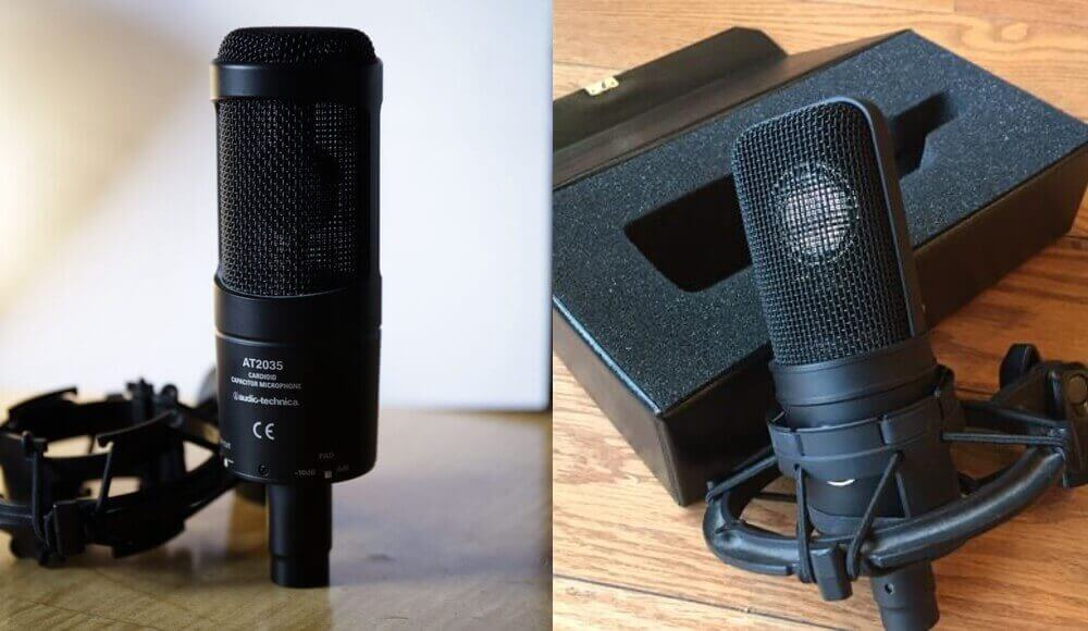 AUDIO TECHNICA AT4040 and AT2035 Microphones