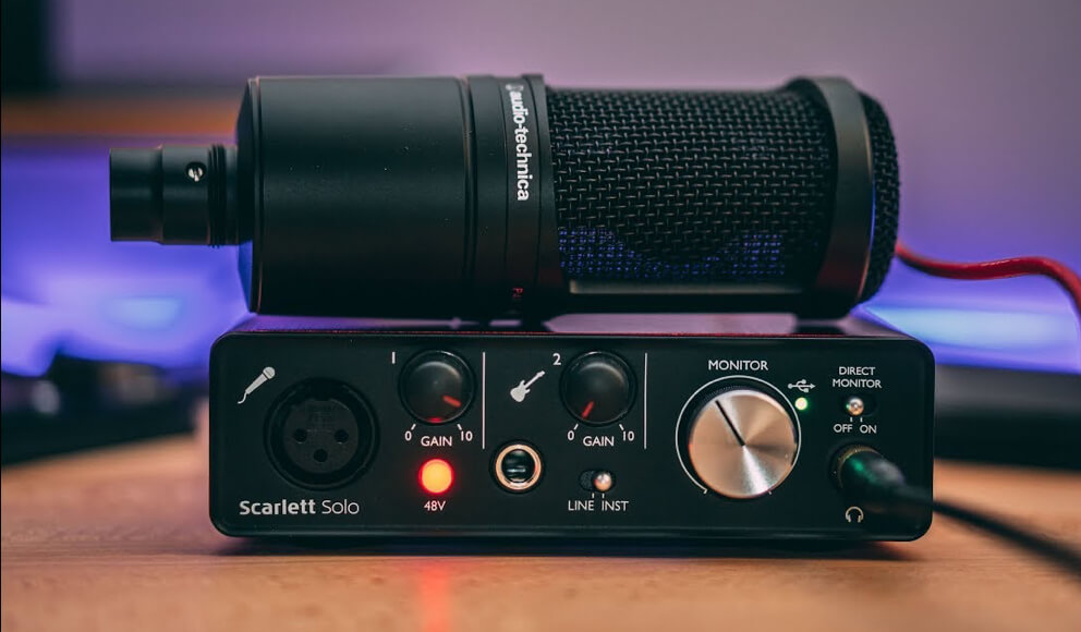 Audio Interface that most suitable for AT2020 microphone.