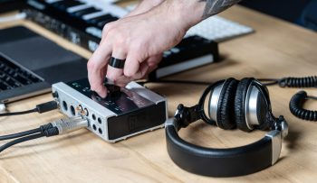 Adjusting and setting audio interface for better sound quality.