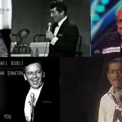 Singers who can sing Frank Sinatra types of music very well.