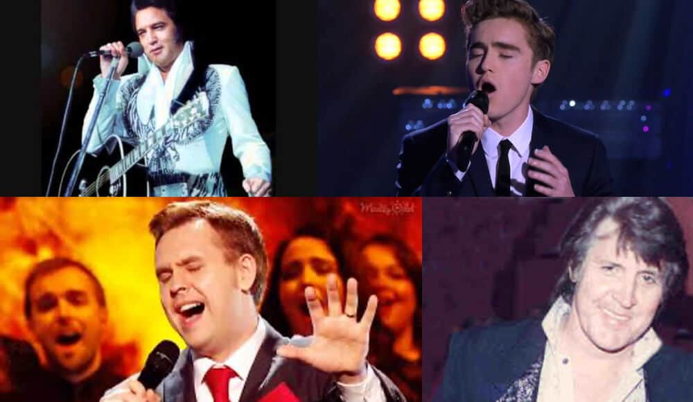 List of singers with Elvis's singing voice.
