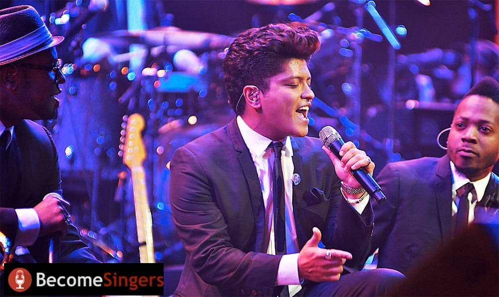 Bruno Mars on stage